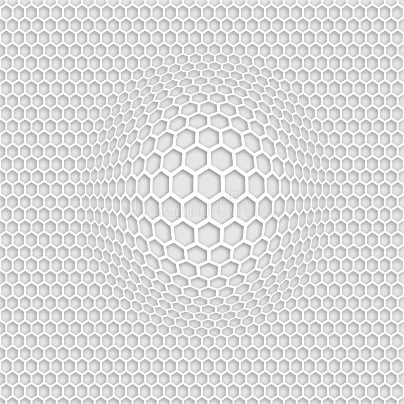 3D灰色无缝的样式徒升 库存例证