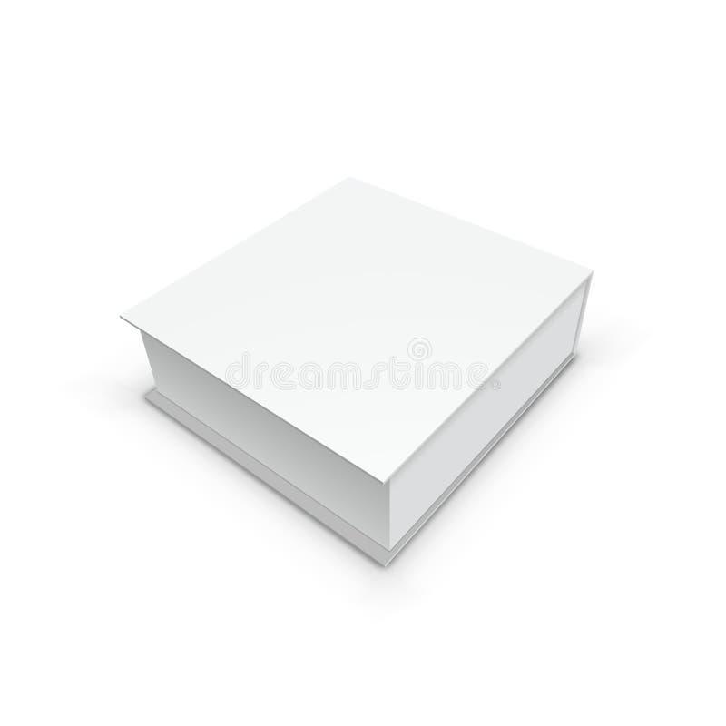3D烙记的白色礼物盒包装 皇族释放例证