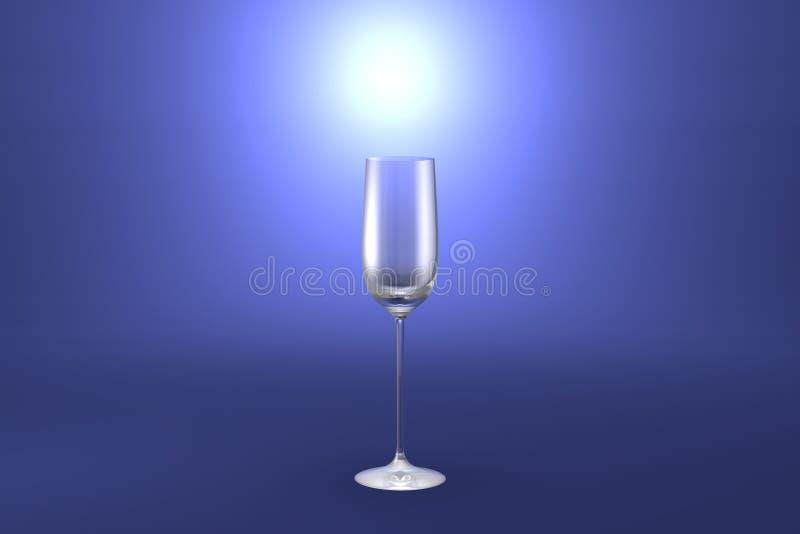 3D热忱的烈酒杯的例证在浅兰的被突出的艺术性的背景-水杯的回报 皇族释放例证