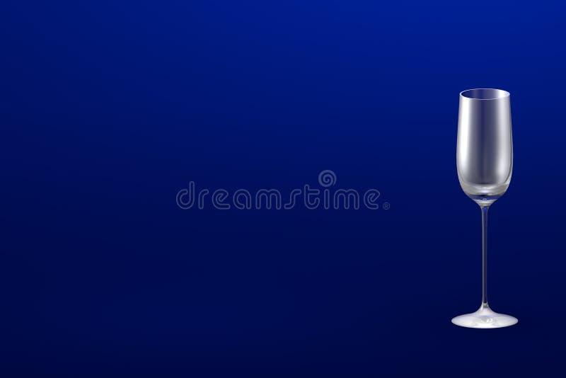 3D热忱的烈酒杯的例证在青的大模型的与您的文本的地方-水杯回报 库存例证