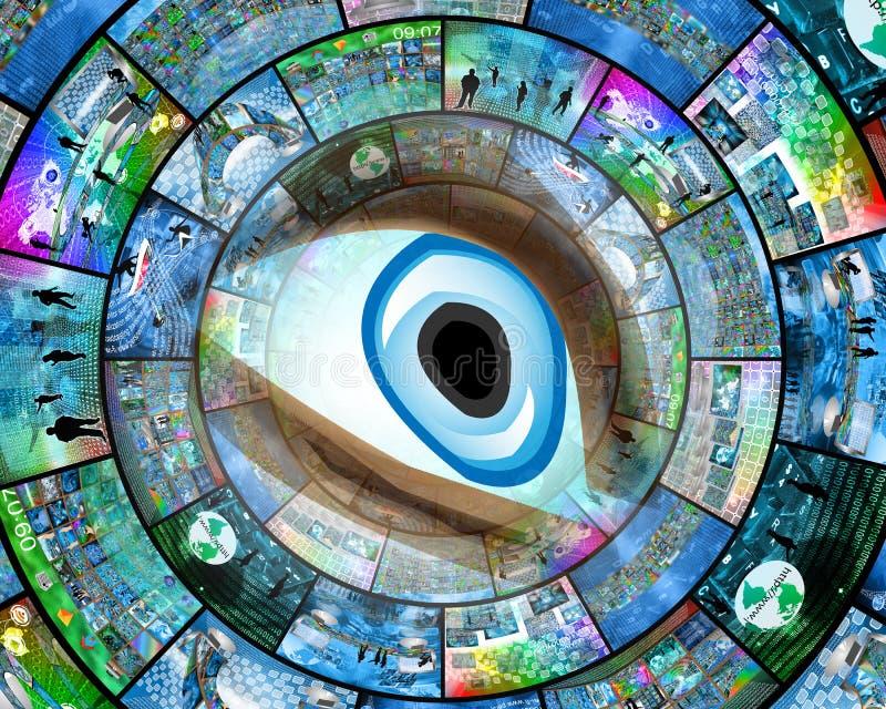 20d照相机eos眼睛人力宏观射击 免版税图库摄影