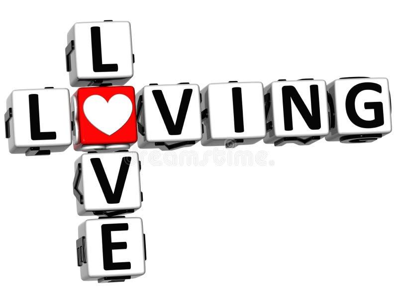 3D爱爱恋的纵横填字谜 向量例证