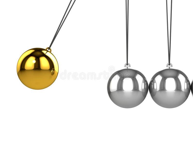 3d牛顿摇篮 向量例证