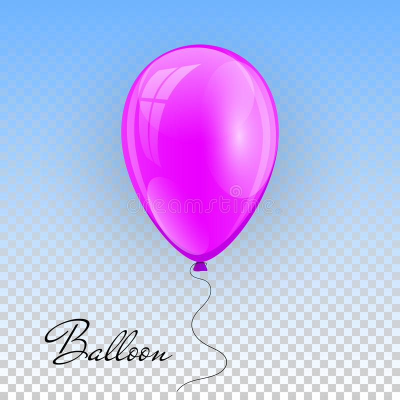 3d现实五颜六色的气球 飞行光滑的气球的假日例证 也corel凹道例证向量 库存例证