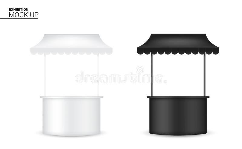 3D现实架子的嘲笑显示POP摊待售营销促进陈列背景例证 向量例证