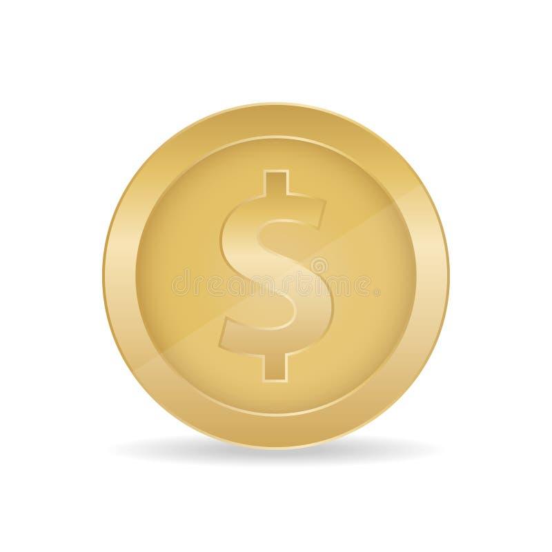 3d现实金币象 3d金币例证 皇族释放例证