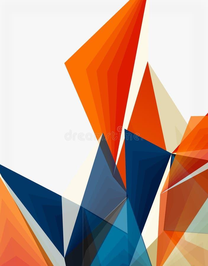 3d现代低三角多抽象几何传染媒介 皇族释放例证