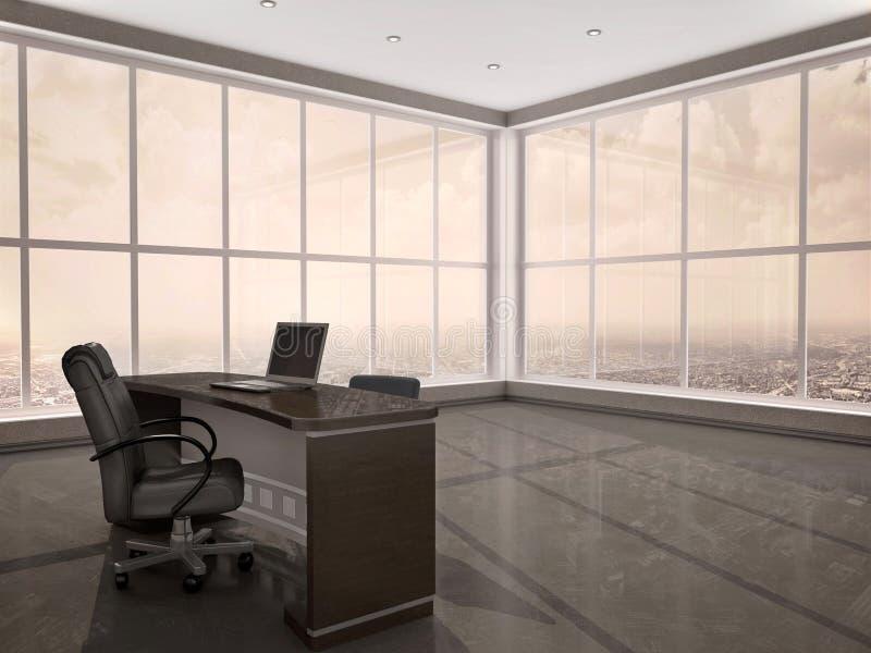 3d现代工作场所的例证在办公室 向量例证