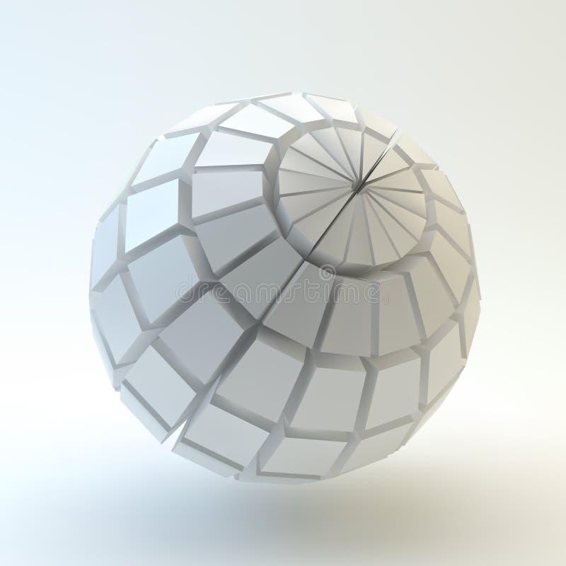 3D球形 库存例证