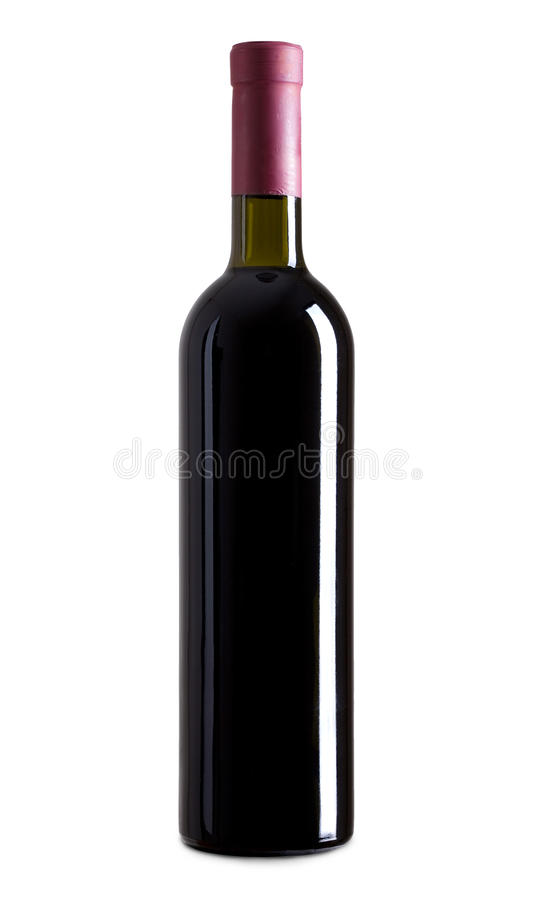 3d瓶高例证图象红色解决方法酒 免版税库存照片