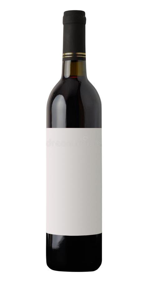 3d瓶高例证图象红色解决方法酒 图库摄影