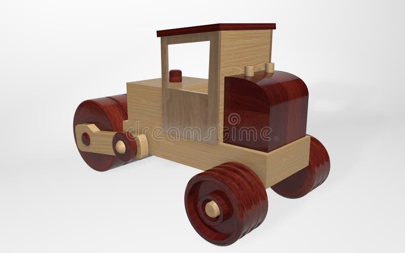 3D由木头不同做的翻译木玩具溜冰场  库存例证