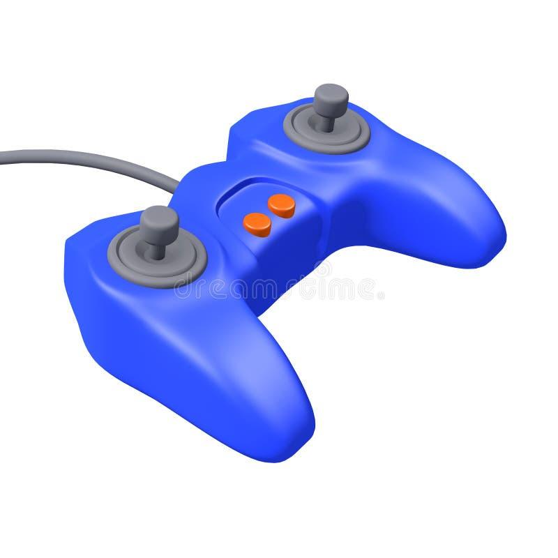 3d电子游戏操纵台管理员 向量例证