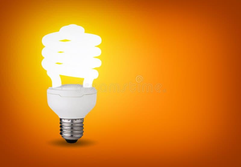 3d电灯泡能源虚构图象徽标救星端写 免版税库存照片