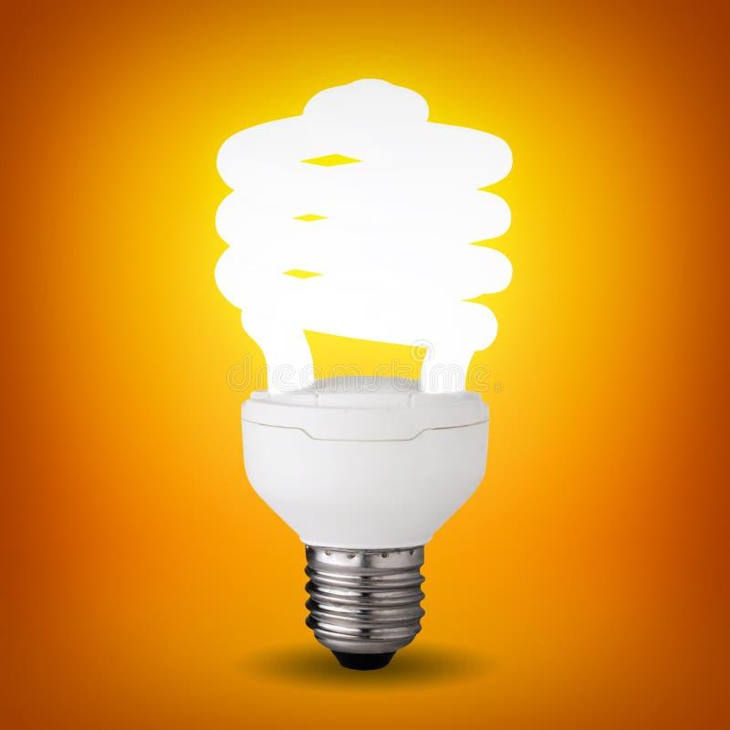 3d电灯泡能源虚构图象徽标救星端写 图库摄影