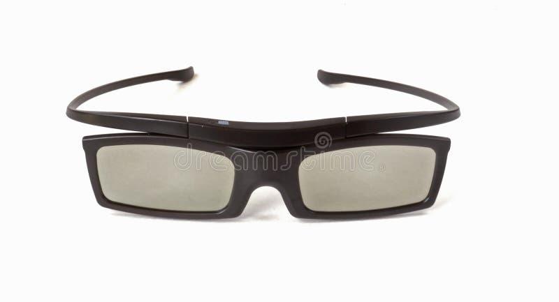 3D电视的玻璃 免版税库存图片