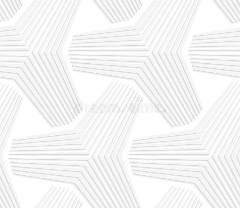 3D白色三角星 向量例证