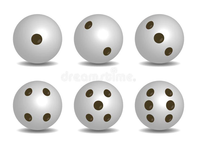 3d白色传染媒介切成小方块 皇族释放例证