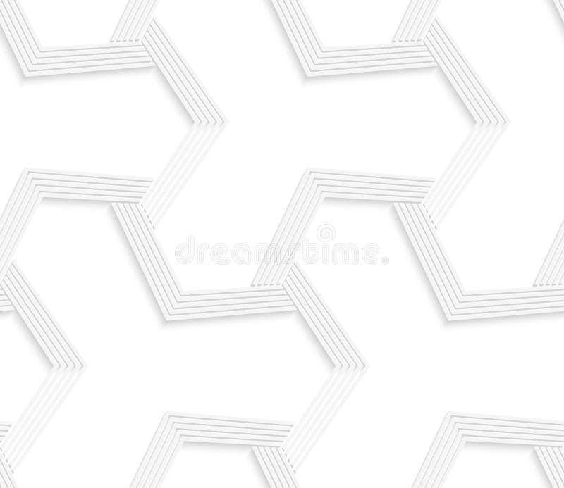 3D白色抽象四足动物的镶边栅格 皇族释放例证