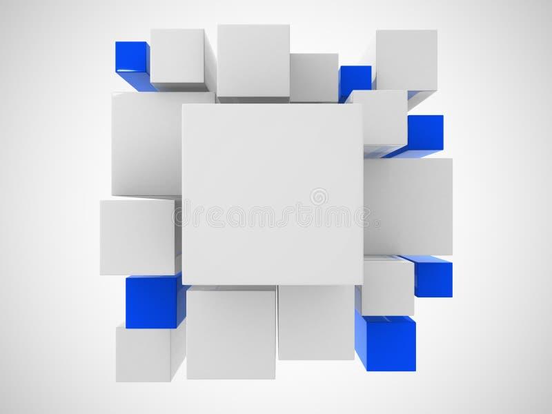 3d白色抽象背景 库存例证