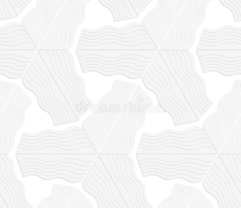 3D白色镶边三角星 库存例证