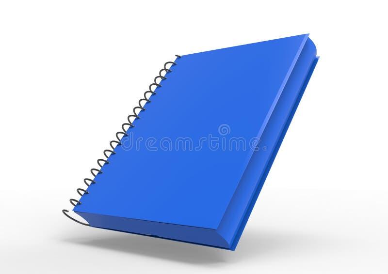 3D盖子笔记本 库存例证