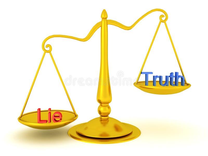3D真相翻译对谎言正义概念 向量例证