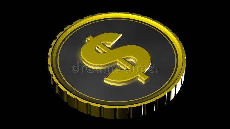 3d硬币 库存例证