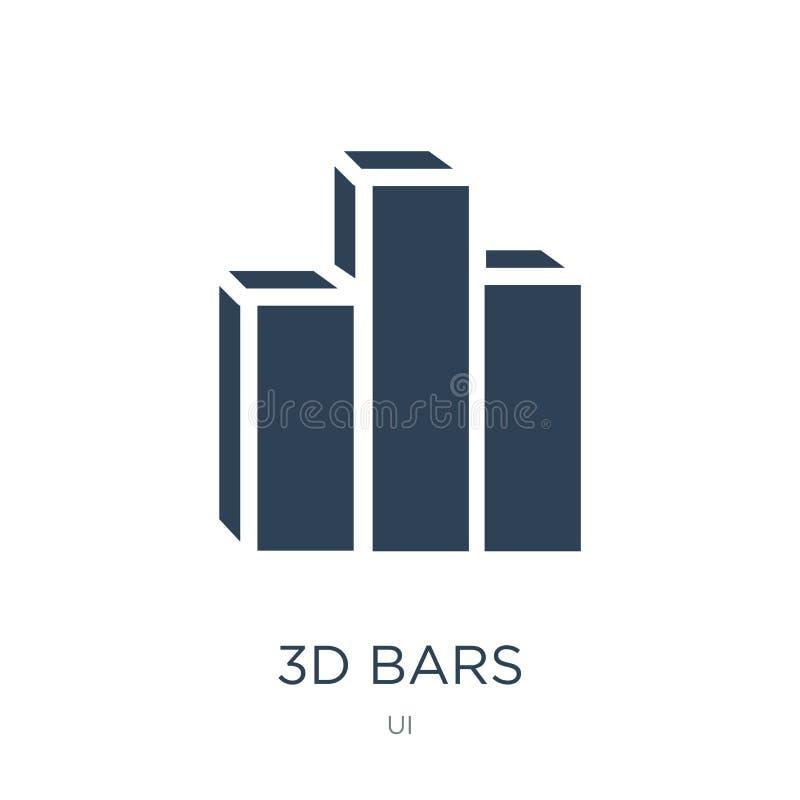 3d禁止在时髦设计样式的象 3d禁止在白色背景隔绝的象 3d禁止传染媒介象简单和现代平的标志 库存例证