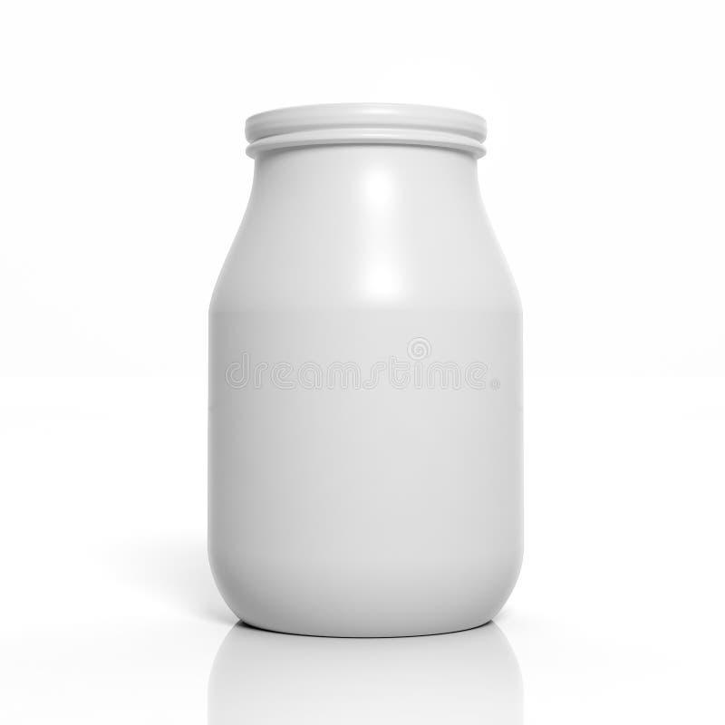 3D空白瓶子大模型 皇族释放例证