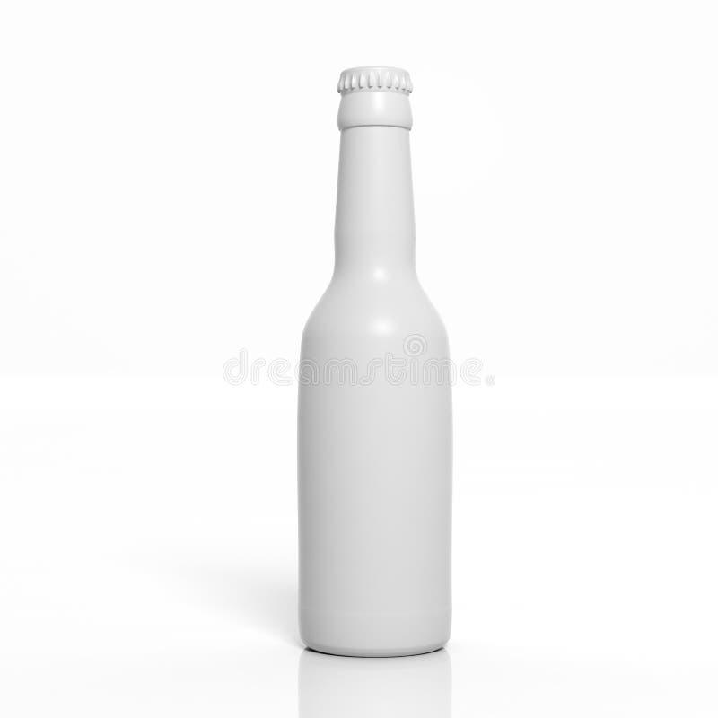 3D空白瓶 向量例证
