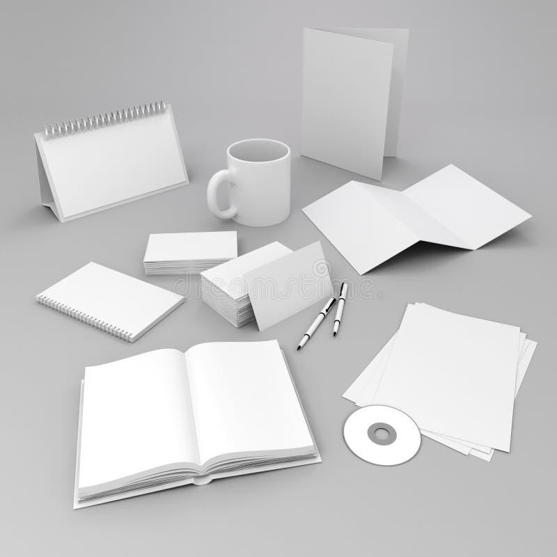 3d空白的公司id元素设计 库存例证