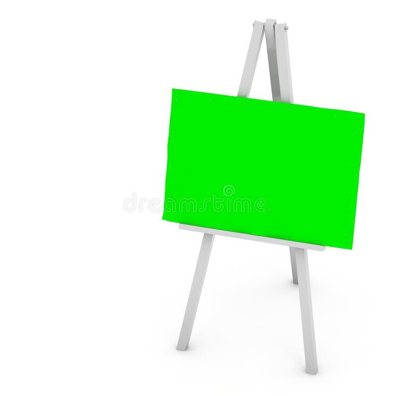 3d空白艺术板,木画架 皇族释放例证