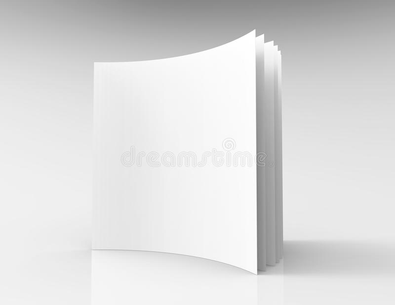 3d空白被打开的杂志模型  库存例证