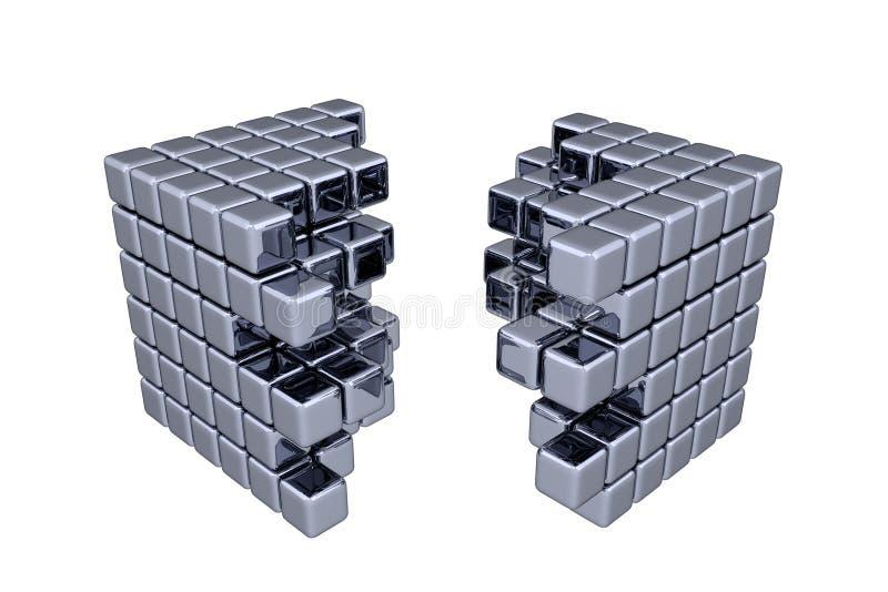 3D立方体 皇族释放例证