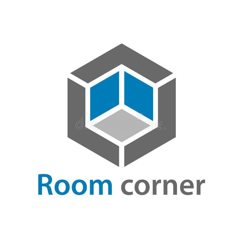 3D等量空的室角落标志 向量例证