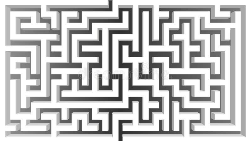 3D等量迷宫设计 解决企业问题概念 皇族释放例证
