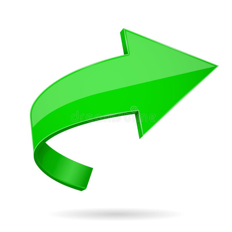 3d箭头绿色 向量例证