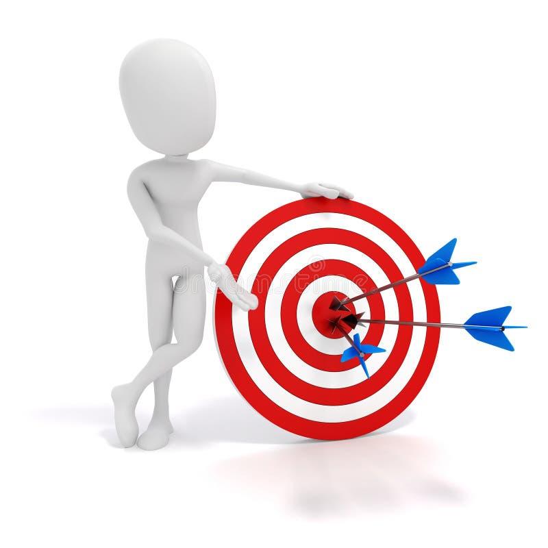 3d箭头人目标 向量例证