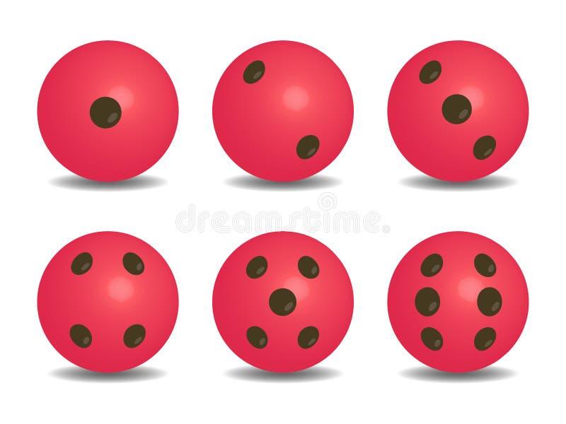 3d粉色传染媒介切成小方块 皇族释放例证