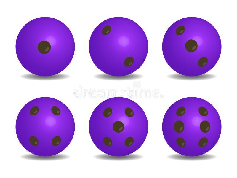 3d紫色颜色传染媒介切成小方块 向量例证