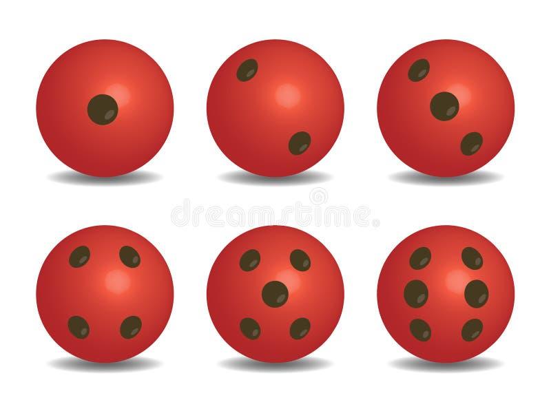 3d红色传染媒介切成小方块 库存例证