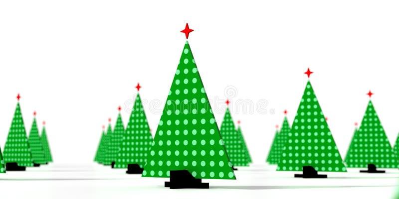 3D纸板圣诞树01的例证 皇族释放例证