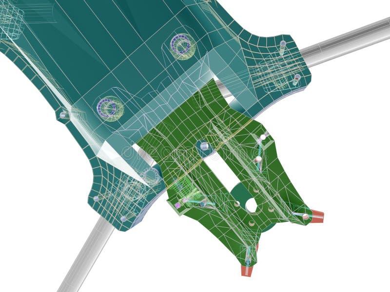 3d结构 3d摘要回报 向量例证