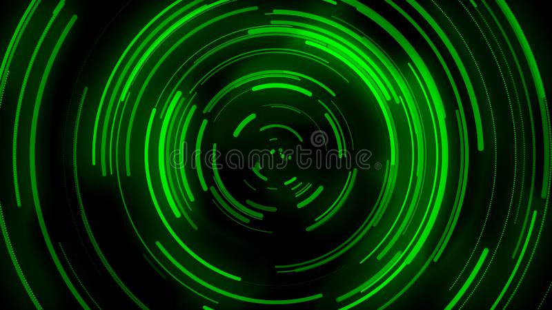 3D给背景,绿色曲线的运动赋予生命,曲线被分布,信号传输,溢出图象 皇族释放例证