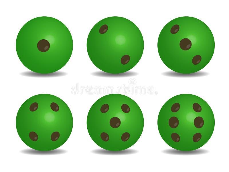 3d绿色传染媒介切成小方块 皇族释放例证