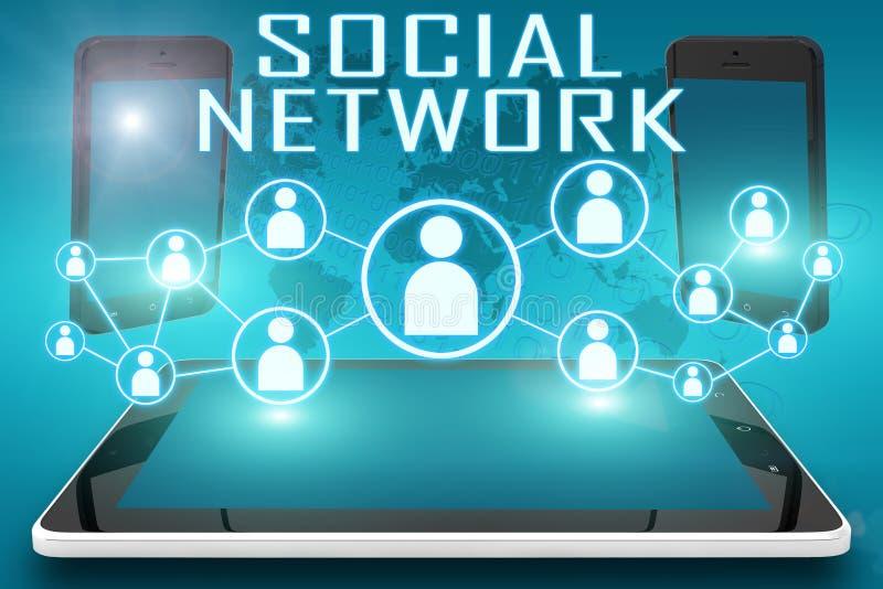 3d网络照片回报了社交 向量例证