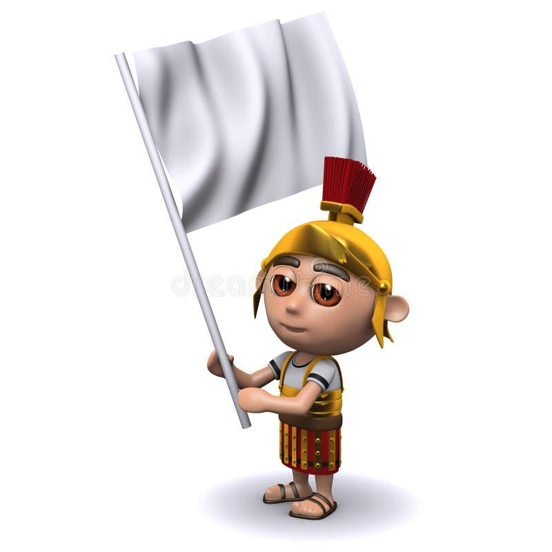 3d罗马战士投降 向量例证