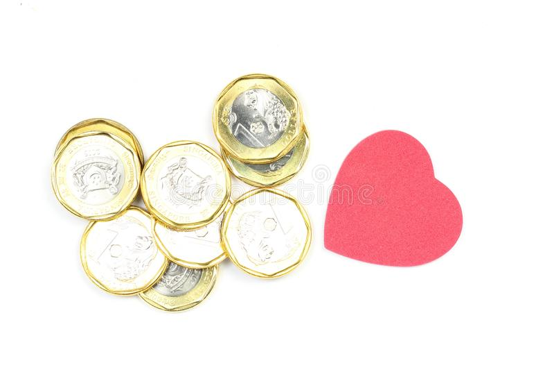 3d美丽的尺寸例证爱货币三非常 免版税库存照片