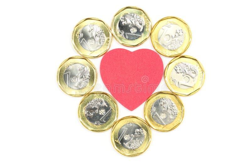 3d美丽的尺寸例证爱货币三非常 免版税库存图片